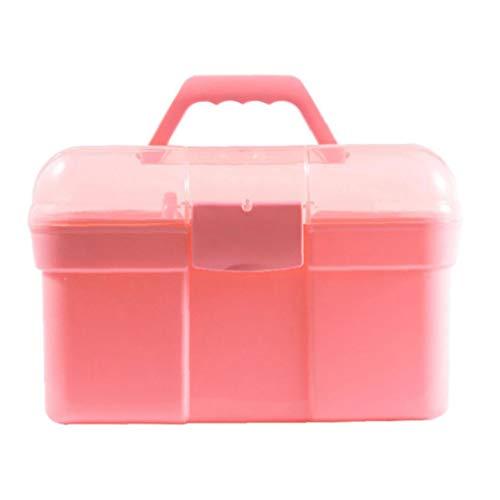 ZYCX123 Portátil de Mano de manicura Herramientas Case Clavo Grande Capacidad de Arte Caja de Almacenamiento de Herramientas de Maquillaje Esmalte de uñas Organizador de contenedores para la Mujer