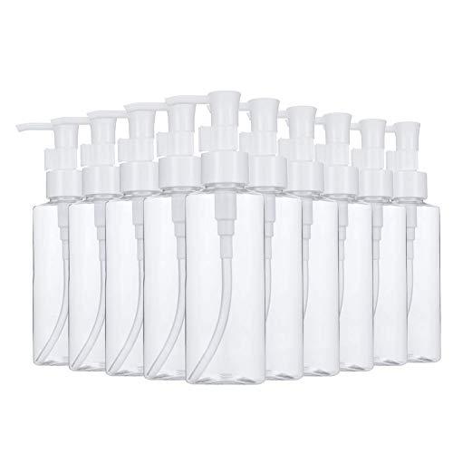 i-Found 100 ml botella de aire de plástico transparente champú bomba de agua botella cosméticos clasificación loción botella viaje al aire libre camping viajes de negocios (10 piezas)