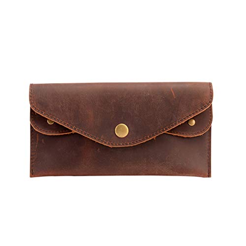 Minimalist Wallet for Men  Genuine Leather Slim Front Pocket Wallets for Credit Cards, Drivers License, Costco Card, Business Cards and an Emergency Bill.