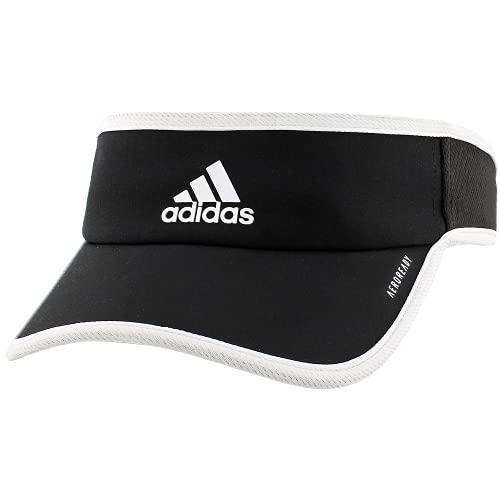 adidas Women's Superlite Performance Visor, Black/White, One Size