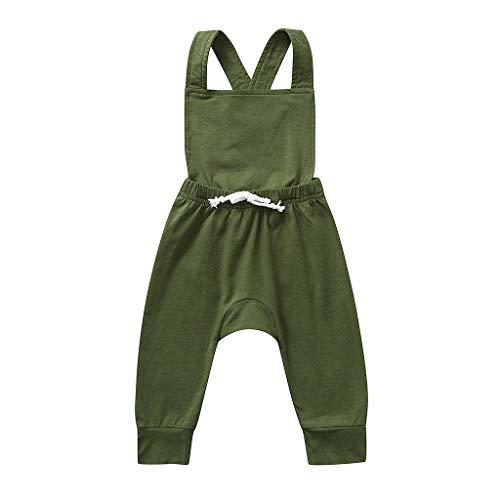 Julhold Neugeborenes Baby Mädchen Junge Mode Einfach Backless Gestreift Lässig Strampler Overall Kleidung 0-3 Jahre