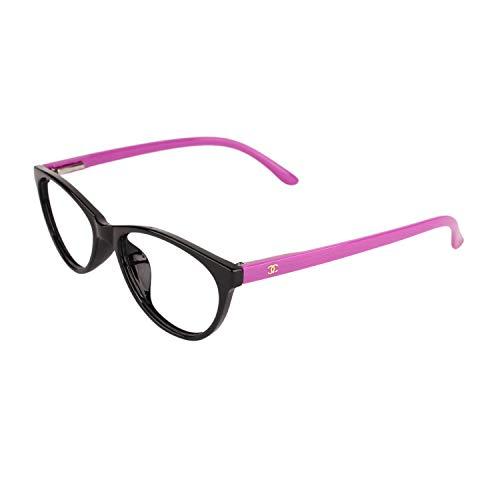 Gen Anti-Reflective Cat Eye Eyeglasses Frame for Women n girls Multi-colored Purple Easy Spring Tample Sides(Lensport Eyewear )