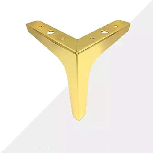 Met Foot Pad, Nordic minimalistisch design stoelpoten montageplaten met toebehoren, die geschikt zijn voor sofa been, tafelpoot, bank been, stoelpoot,Gold,M