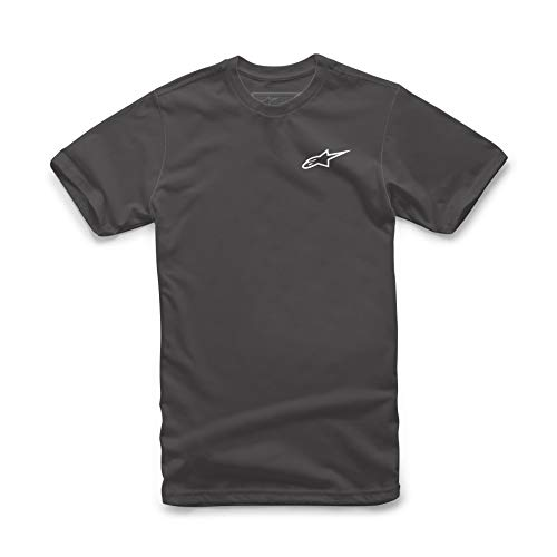 Alpinestars Ageless Tee - Herren T-Shirt aus 100% Baumwolle, Sportlicher Kurzarmshirt, Körperbetonter Schnitt - Schwarz