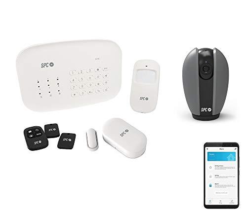 SPC Interceptio + Teia alarminstallatie + 360-graden-camera Smart Home, compatibel met Amazon Alexa, Google Home en IFTTT