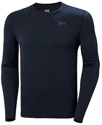 Helly Hansen HH LIFA Active Solen LS Camiseta Técnica De Protección Solar Manga Larga, Hombre, Navy, XL