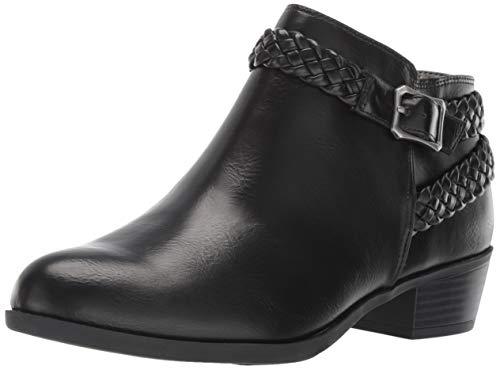 LifeStride Women's Adriana Ankle Bootie Boot, Black, 10 W US