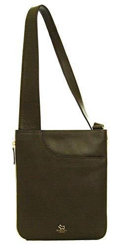 Radley Pockets Umhängetasche aus Leder, mit Reißverschluss, mittelgroß, Olivgrün