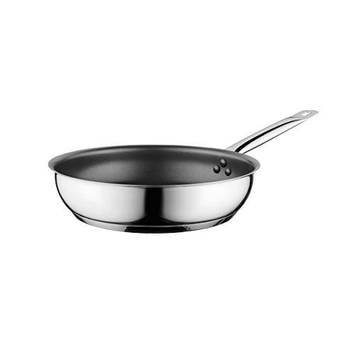 BergHOFF Comfort koekenpan, keukenpan, steelpan, zilver, antiaanbaklaag, 24 cm