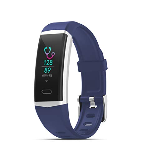 QY-Youth GPS Smart Pulsera Watch Wath Health Muts's Women's Pulseras Deportes Bluetooth 5.0 Pulsera de Fitness IP68 Smart Band,Azul