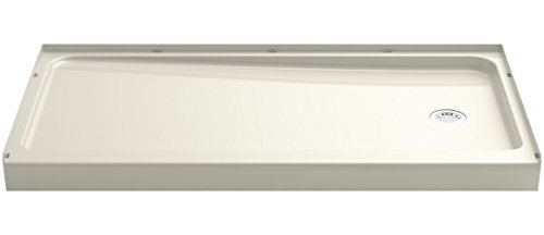 a KOHLER Company  Series 7128 Ensemble Shower Base with Right-Hand Drain, 60 x 32-Inch, Biscuit - Sterling 72181120-96