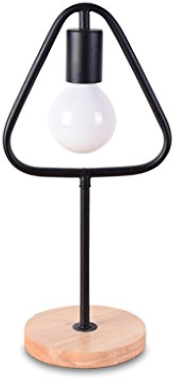 TangMengYun Kreative Einfache Tischlampe Personalisierte Metall Dekorative Lichter Nordic Arbeitszimmer Wohnzimmer Nacht Schreibtischlampe (E27) (Farbe   schwarz-Triangular-15  40cm)