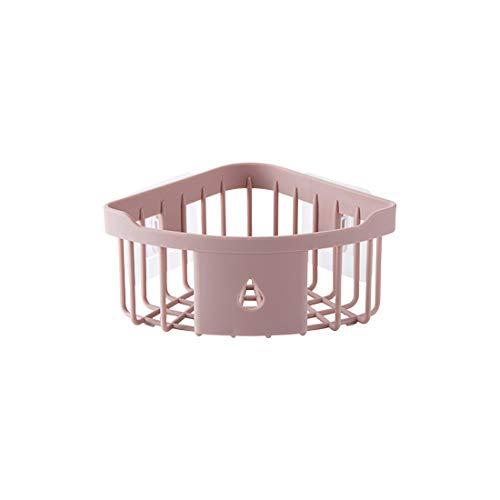 MEIHZIJIA Ponsvrije muur opknoping driehoek rack plastic wastafel spons opknoping mand keuken hoek plank kruidenrek opslag rack