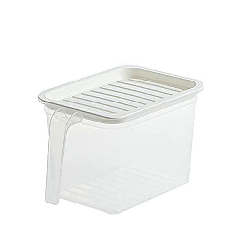 Refrigerador Almacenamiento Contenedor Cocina Transparente Caja de almacenamiento Sellado Latas Grano Plegable Rack Envase de alimentos (Color : 1PC Size S)