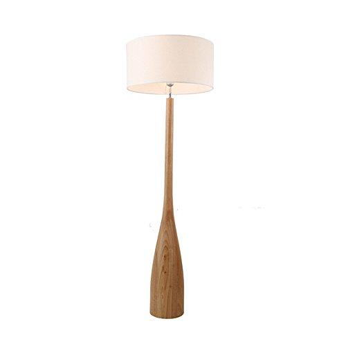 U-Enjoy Chandelier Nordic Floor Wood Design Shade Simple Japanese Lamp Slim Table Light Foyer Bedside Sitting Fabric Sofa Side Room Oak E27 Free Shipping [Floor lamp]