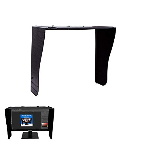 MNSSRN Einstellbare Desktop-Computer-Monitor Hood, Büro Gaming Fotoretusche Visor, Anti-Streulicht, Anti-Peep-Proof-Sonnenblende, Rahmenbreite 41-66Cm