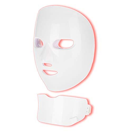 Máscara LED Luz 7 colores Facial Rejuvenecimiento Tratamiento Piel Belleza Fotones PDT Cara Ajustable Máquina de belleza para eliminar Acné Arrugas Antienvejecimiento Blanqueamiento(eu)