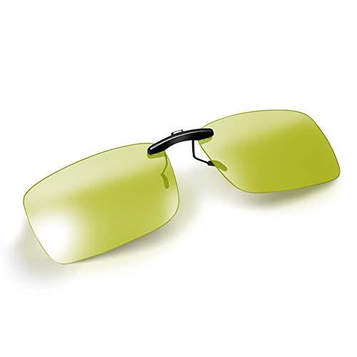 Night Driving Blue Light Blocking Clip on Glasses Night Vision Photochromic Clip