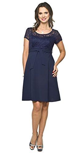 Elegantes und bequemes Umstandskleid, Brautkleid, Hochzeitskleid für Schwangere Modell: SANTIA, dunkelblau, S