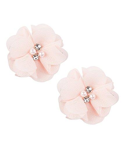 SIX Rosa Haarschmuck: Haarclips für Hochsteckfrisuren, im 2er-Set, Tüll-Blüten mit Perlen und Strass, fester Halt, für jedes Haar geeignet, (24-603)
