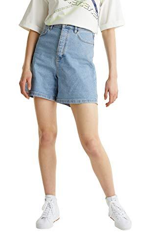 edc by ESPRIT Damen 040CC1C303 Jeans-Shorts, 903/BLUE Light WASH, 31