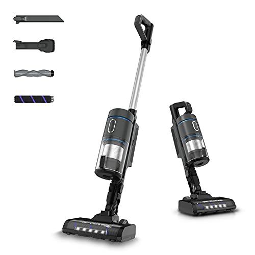 Aspiradora inalámbrica Vacuum Cleaner 20000Pa Aspiradora de varilla inalámbrica 6 en 1, 40 minutos de autonomía, bajo centro de gravedad, ideal para pelos de animales y alfombras