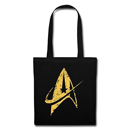 Spreadshirt Star Trek Discovery Delta Abzeichen Gold Stoffbeutel, Schwarz