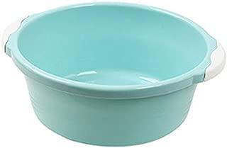 Baby Wash Basin Lightweight Washbowl Portable Dish Tub Plastic Round Washing Up Kitchen Non-Slip Washbasin Green High Grade Circular Bowl Mixing,Blue