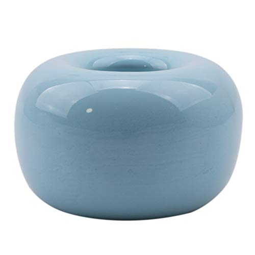 Sevenfly Mini-Zahnbürstenhalter aus Keramik für das Bad, auch für Stifte und Geschirr geeignet (Blau)