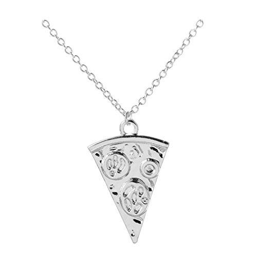 Collar con colgante de moda, cadena de pizza, para mujer, regalo de fiesta de boda