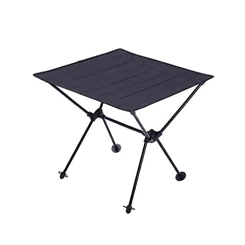 WCN Mesa Plegable Mesa Plegable Ligera Oxford Table Table Tapa Portable Mesa Camping Camping con Bolsa DE Almacenamiento Mesa (Color : Black)