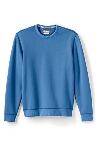 Lands' End Herren Sweatshirt mit rundem Ausschnitt 56-58 Blau - Lagunenblau