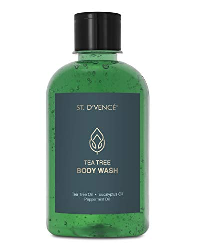 ST. D'VENCE Tea Tree Body Wash with Eucalyptus and Peppermint Oil, 275...