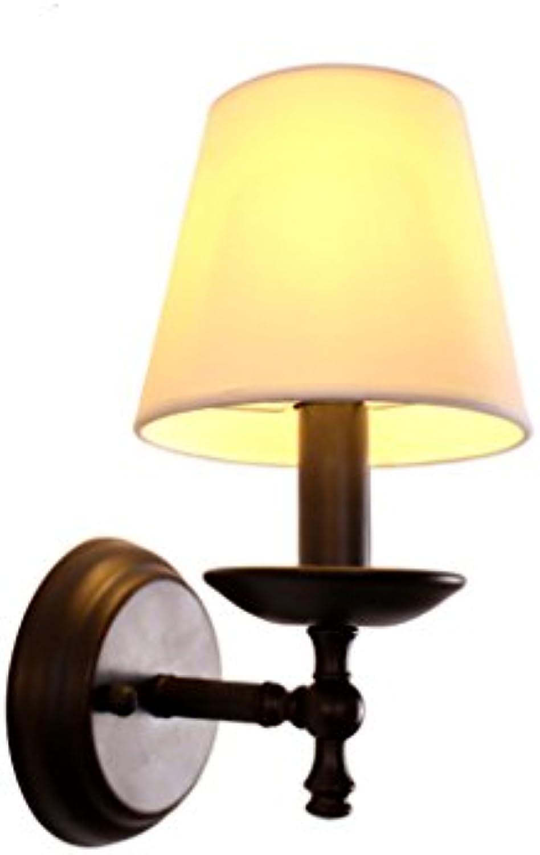 Wandleuchte, amerikanische wandleuchte lndlichen modernen Einfache lndlichen Nordeuropa eisen kunst wohnzimmer Einfache einzigen kopf nachtwandleuchte E14 (Farbe   Single)