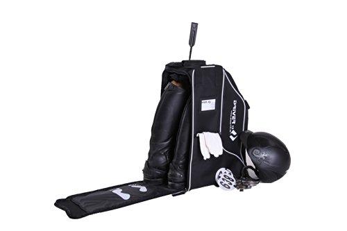 Driver13 ® mochila para botas de montar mochila deluxe con compartimento para casco para botas botas de montar negro