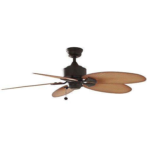 Hampton Bay Lillycrest 52' Indoor/Outdoor Aged Bronze Ceiling Fan - Model # 32711