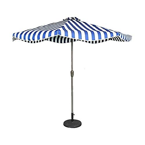 Sombrillas para patio al aire libre, 9 pies / 2,7 m Sombrilla para patio a rayas, para jardín, terraza, patio trasero y piscina, protector solar UV50 +, 5 colores, sin base a prueba de viento (Color