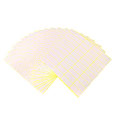 JANEMO 15 Fogli di Etichette adesive, Etichette Bianche autoadesive quadrate 17 × 38 mm, da Utilizzare per cassetti di etichettatura, cartelle di File, Scatola di immagazzinaggio