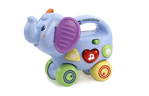 VTech Push and Play Elephant, Push Along Toy with Educational Features, Musical Toy with Sounds and Phrases, Toddler Toy Suitable for Children Aged 6 Months to 3 Years