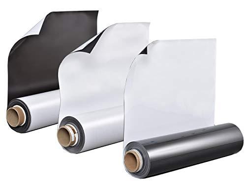 Auswahlangebot! Eisen/Ferrofolien - Selbstklebend - 0,6mm Stark - Magnetische Pinnwand, Magnetgrund, Whiteboardfolien, Tafel, Magnettafel(Weiß Glänzend - 60x40cm)