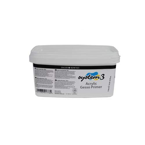 Gesso Blanco de Imprimación para Pintura Acrílica DALER ROWNEY System3 (bote de 1 litro)