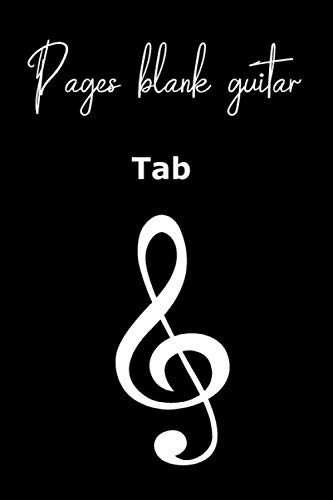 Guitar player /notebook journal: Blank Bass Guitar Tab Paper 100 Pages A4 Music Gift For Guitarist And Musicians Guitar Tabs size 6x9 .