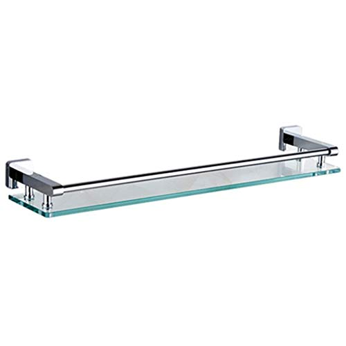 Badkamer Storage & Organisatie badkamer plank compleet koper gehard glas eenlaags plank badkamer kaptafel (kleur: zilver grootte: 40 cm) 50cm-silver