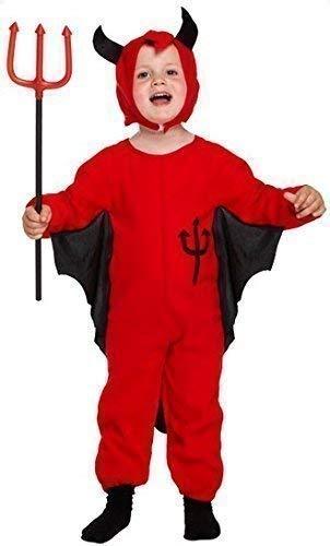 Bambini Diavolo Rosso Abito Costume Halloween Age 3 anni