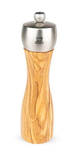 Peugeot Fidji Manuelle Pfeffermühle, Klassische Mahlgradeinstellung, Höhe: 20 cm, Olivenholz, 33828