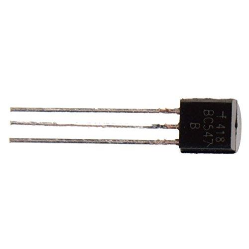 SODIAL (R) 100 Transistores NPN BC54745V 100mA BC547negros
