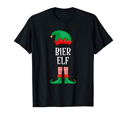 Herren Bier Elf Partnerlook Outfit Weihnachten Fasching Karneval T-Shirt