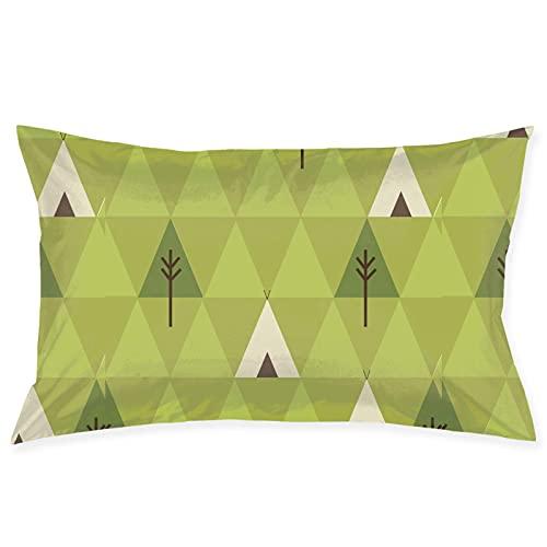 Throw Pillow Covers Teepee Camping Throw Pillow Cover Funda de cojín Funda de Almohada Adecuado para la decoración del hogar Coche Sofá Cama Sofá 20x30
