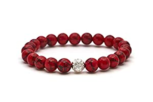 Jaspis Armband – Echtes Perlenarmband mit Naturstein und 925 Sterling Silberperle – BERGERLIN Feel Goods