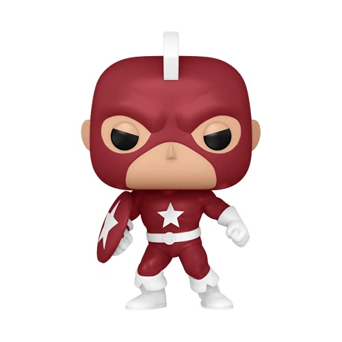 Funko 55478 POP Marvel Year Of The Shield- Red Guardian , Amazon Exclusive